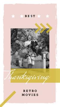 Woman with turkey bird