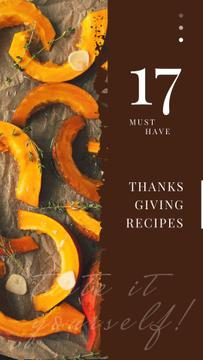 Roasting Thanksgiving pumpkin pieces