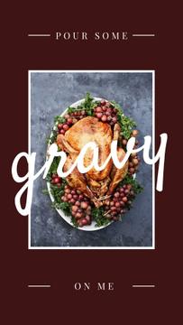 Thanksgiving Dinner Tradition Roasted Turkey