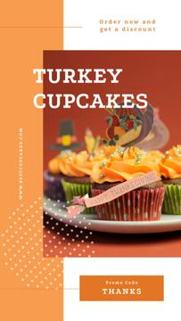 Thanksgiving feast cupcakes