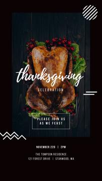 Thanksgiving Invitation Roasted Whole Turkey
