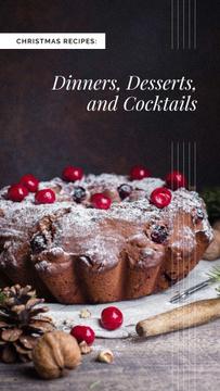 Christmas festive cake