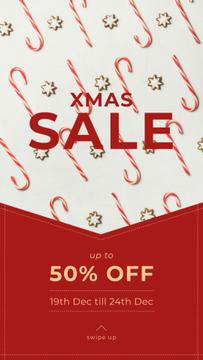 Christmas Sale Ad with Sweets