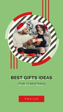 People sharing Christmas gifts