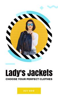Stylish Girl wearing Leather Jacket