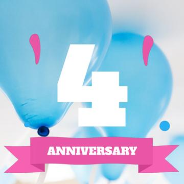 Anniversary celebration with Blue Balloons