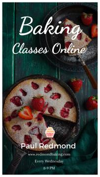 Bakery Classes Promotion Pie with Strawberries