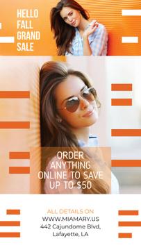 Fashion Promotion Beautiful Girl by Orange Wall