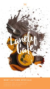Autumn Menu Bowls with Pumpkin Soup