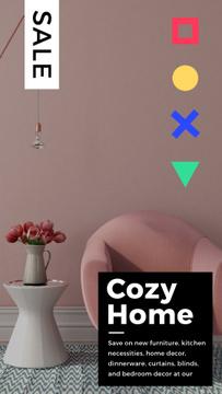 Cozy Interior in Pink Color
