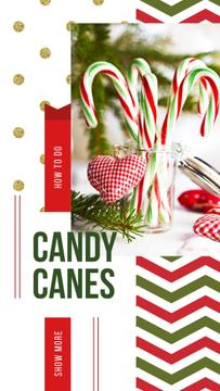 Christmas decor with candy canes
