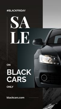 Black Friday Ad Modern sports car