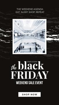 Black Friday Ad People in shopping mall