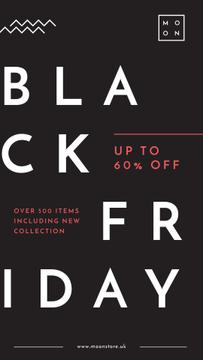 Black Friday Ad Minimalistic geometric lines