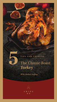 Roasted whole turkey on Thanksgiving