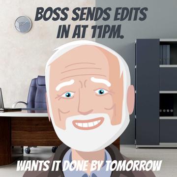 Upset man in Office