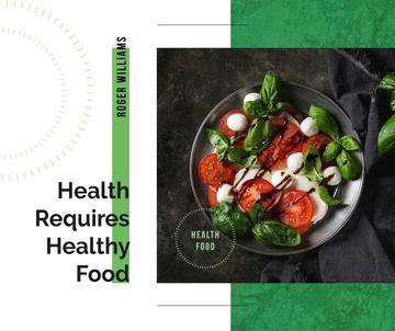 Healthy Italian caprese salad