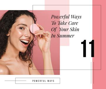 Skin Care Tips Woman cleaning Face
