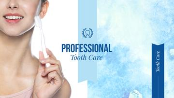 Tooth Care Services Ad with Woman Holding Toothbrush