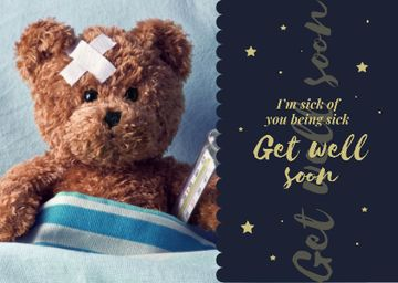 Teddy bear with Thermometer and Patch