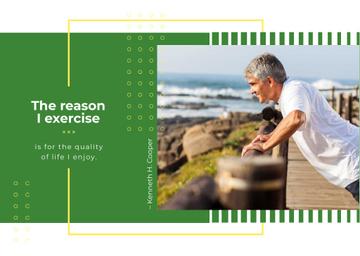 Senior man exercising outdoors
