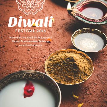 Happy Diwali celebration with spices