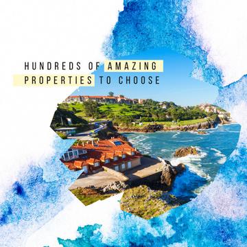 Houses at sea coastline