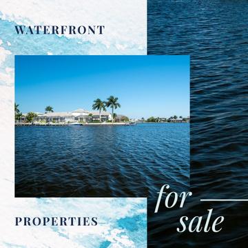 Real Estate Sale Houses at Sea Coastline