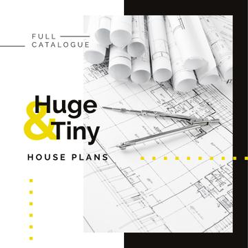 House plans Architectural prints on table