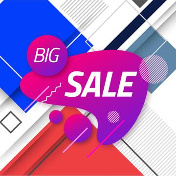Sale Announcement with Moving Blots and Rectangles