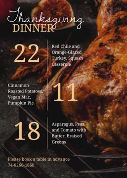 Thanksgiving Dinner invitation with walnuts