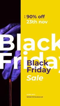 Black Friday Sale Dark paint blots