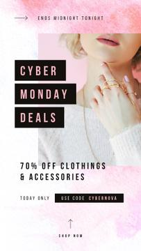 Cyber Monday Sale Woman wearing golden accessories