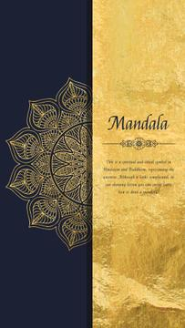 Golden Ornate Mandala