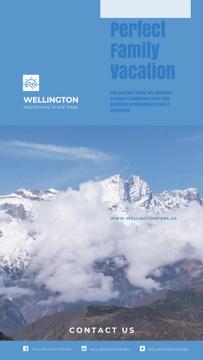 Mountains Tour Ad Scenic Peaks Landscape