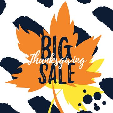 Thanksgiving sale on Maple autumn leaves
