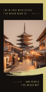 Asian pagoda building