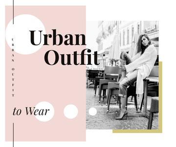 Outfit Trends Woman in Winter Clothes in City