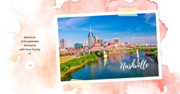 Nashville Invitation Postcard with City View