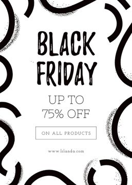 Black Friday ad on ribbons pattern
