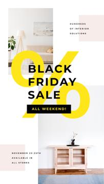 Black Friday Offer with Cozy interior in light colors