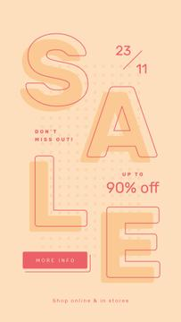 Sale Ad Simple geometric pattern