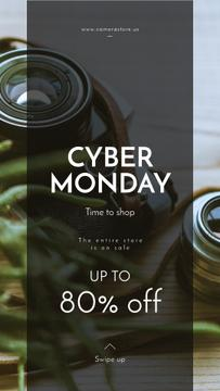 Cyber Monday Sale Vintage camera with lens