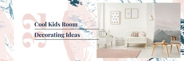 Kids Room Design with Cozy Interior in Light Colors