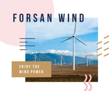 Renewable Energy Wind Turbines Farm