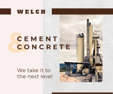Concrete Production Industrial Plant with Chimneys