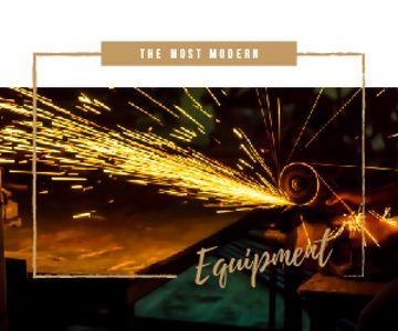 Welding Equipment Ad Man Cutting Metal
