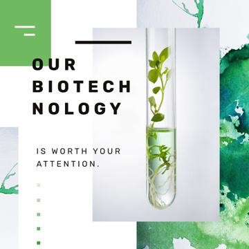 Green Plants in Test Tube