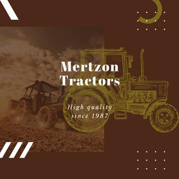 Farming Machinery Tractor Working in Field