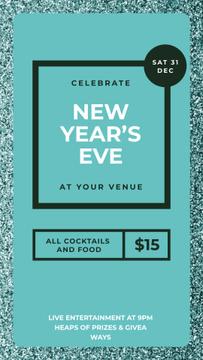 New Yea's Eve on Shiny glitter pattern